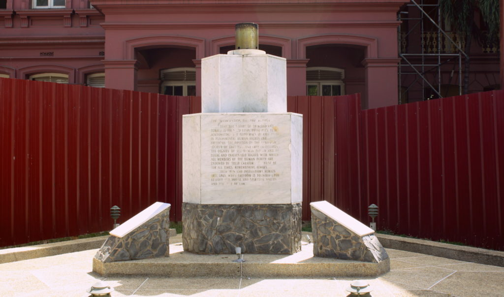 Memorial to the Attempted Coup in Trinidad