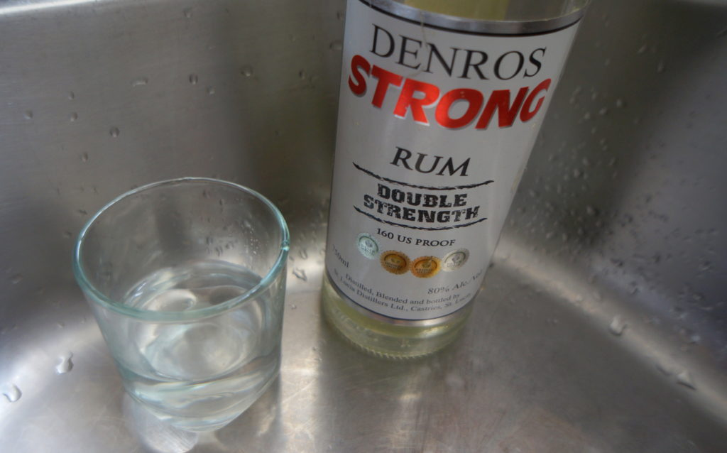 Denros Strong Rum Double Strength 160 Proof Rum