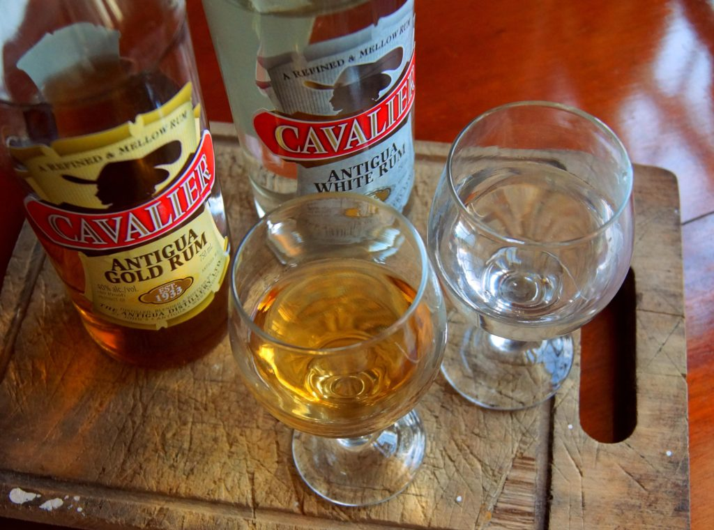 Cavalier Gold Rum and Cavalier White Rum from the Antigua Distillery