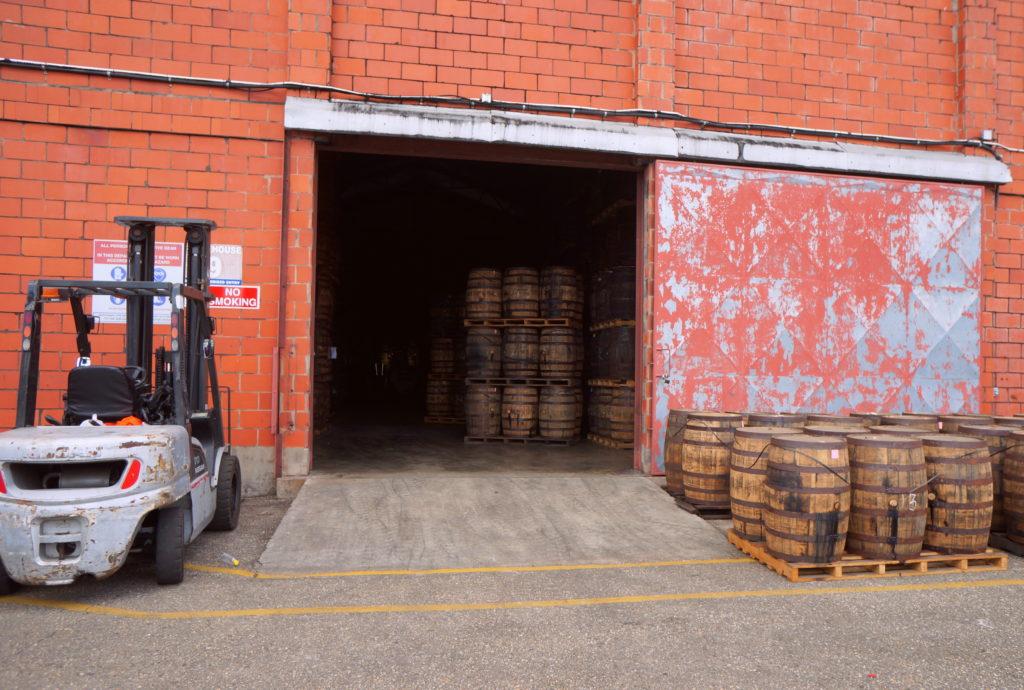 Barrels at the Angostura Bonded Warehouse