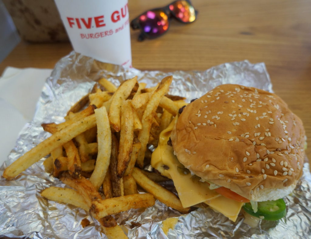 Cheeseburger and Boardwalk Style Fries from Five Guys Burgers and Fries