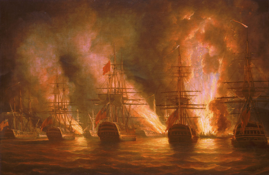 The Capture of Trinidad, 17th February 1797 by Nicholas Pocock
